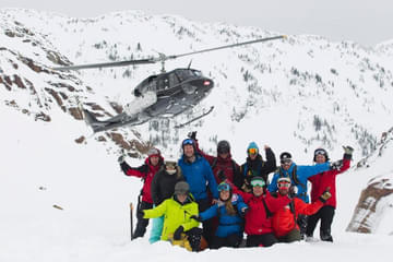 Teambuilding mit dem kanadischen Skiteam in den Rocky Mountains